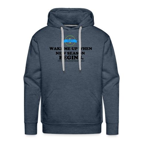 wake_me_up_when - Felpa con cappuccio premium da uomo