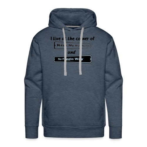 I_LIVE_AT_THE_CORNER_CUT_-2- - Men's Premium Hoodie