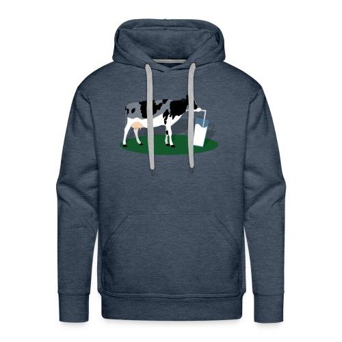 RECHARGING COW - Felpa con cappuccio premium da uomo