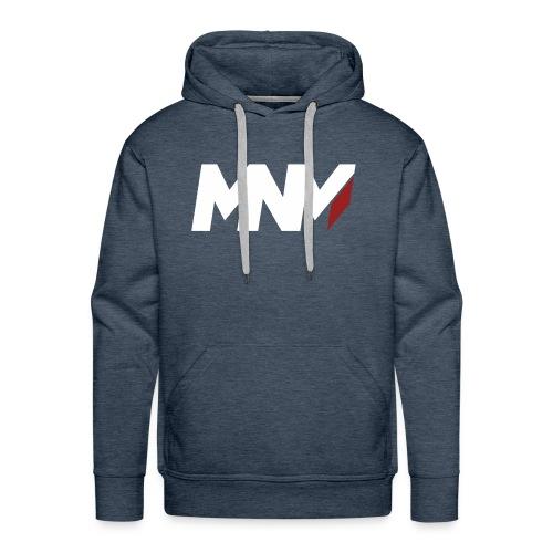 MNM With RED WHITE Corner - Men's Premium Hoodie