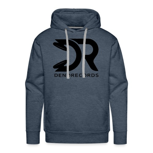 Denorecords Black Png - Männer Premium Hoodie