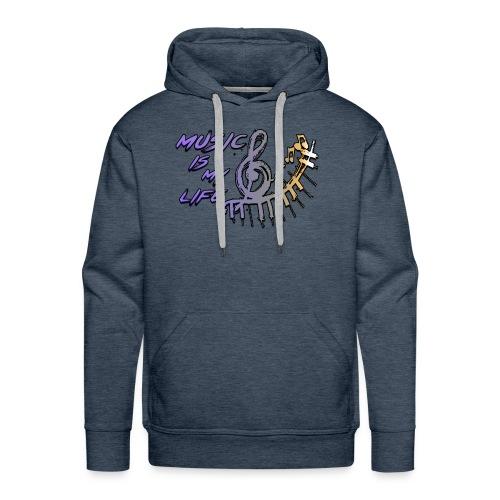 Music is my life - Dames Shirt - Mannen Premium hoodie