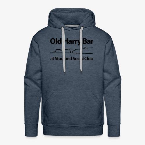Old Harry Bar logo - black - Men's Premium Hoodie