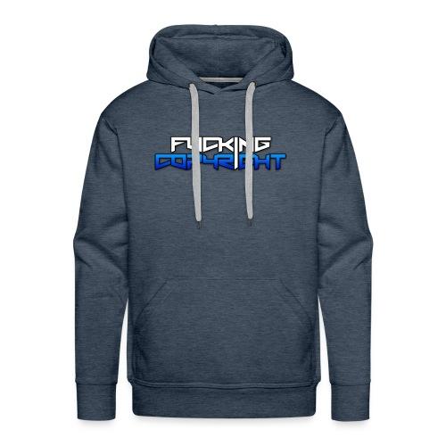 Logo FuckingCopyright Blue - Sudadera con capucha premium para hombre