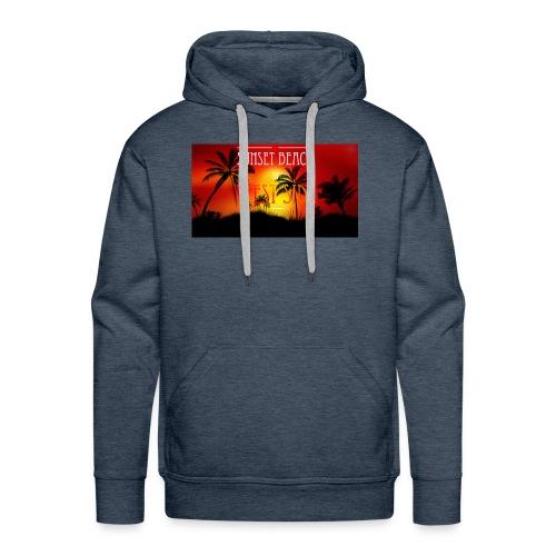 Sunset beach - Bluza męska Premium z kapturem