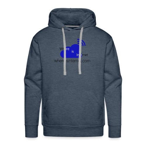 Where is the Internet - Men's Premium Hoodie