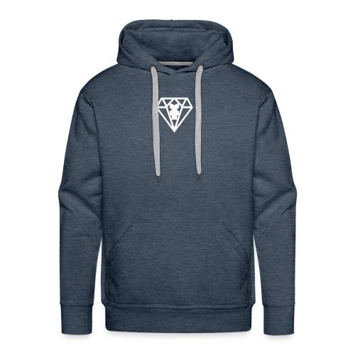 Pull noire logo blanc - Sweat-shirt à capuche Premium pour hommes