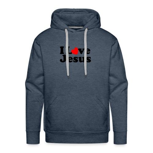 I Love Jesus - Felpa con cappuccio premium da uomo