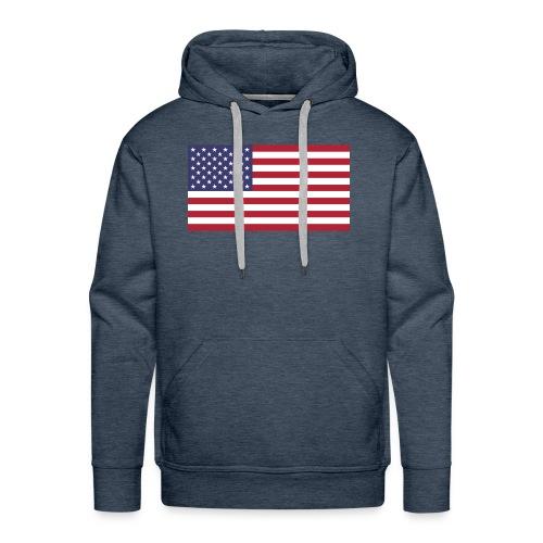 Small American Flag - Men's Premium Hoodie