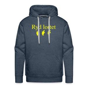 Ryd Lortet - Herre Premium hættetrøje