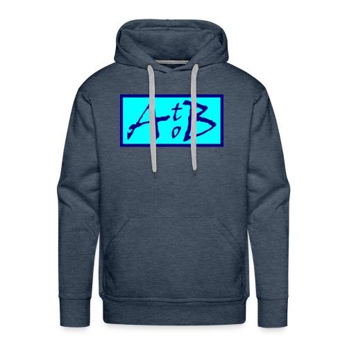 AtoB Logo light blue - Men's Premium Hoodie