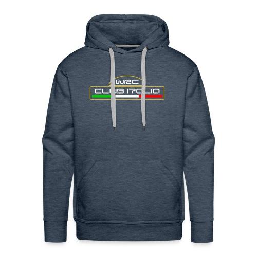 WRC CLUB ITALIA LOGO ANTERIORE - Felpa con cappuccio premium da uomo
