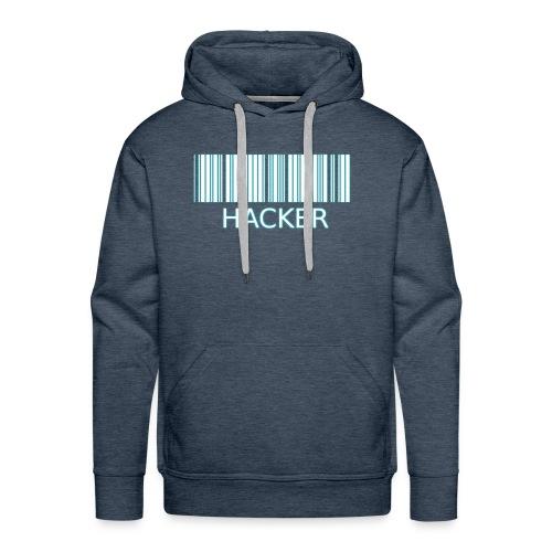 Hacker_barcode Cup - Felpa con cappuccio premium da uomo
