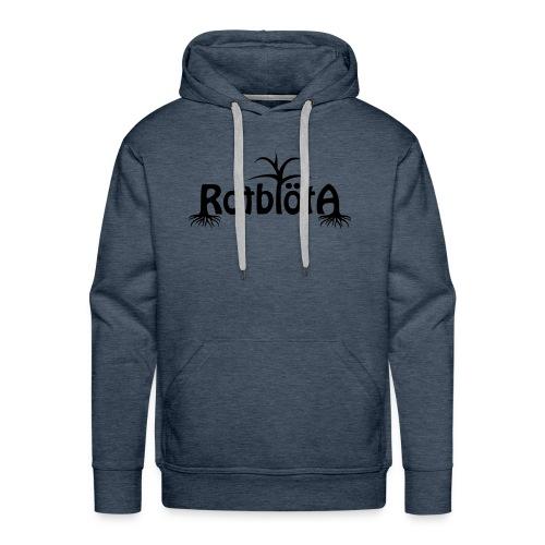 Rotblöta svart logo - Premiumluvtröja herr