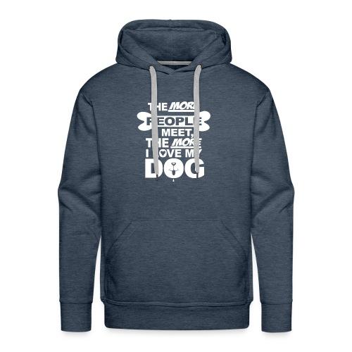 the more people i meet - Mannen Premium hoodie