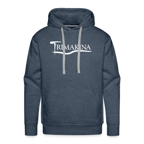 Texto TriMakina BLANCO editado 1 - Sudadera con capucha premium para hombre