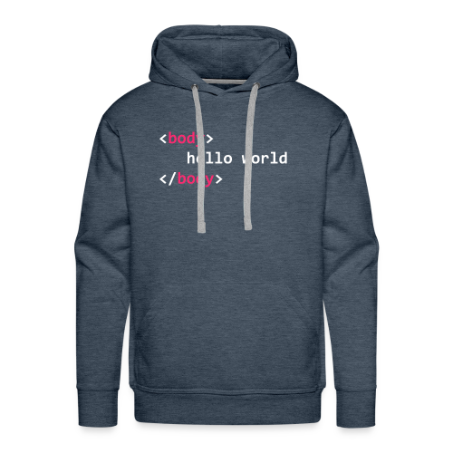 hello-world-png - Men's Premium Hoodie