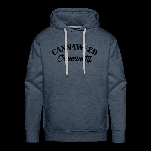 noir sur blanc CWD Communauté - Sweat-shirt à capuche Premium pour hommes