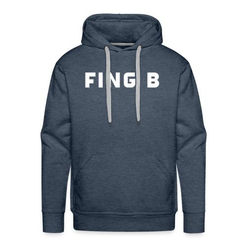 FING B Black Logo - Premiumluvtröja herr