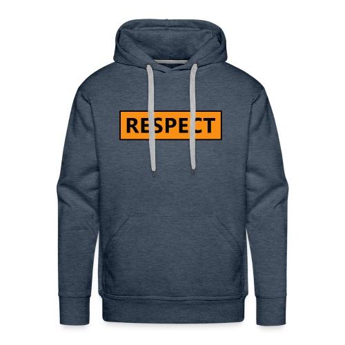 Respect (Rispetto) - Felpa con cappuccio premium da uomo