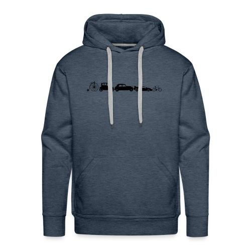 evolution of vechicles - Mannen Premium hoodie