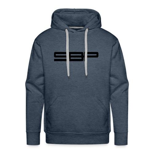 T-shirt white chest emblem black - Men's Premium Hoodie