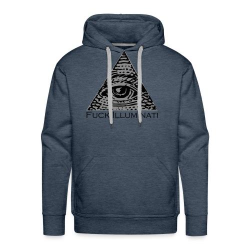 Fuck Illuminati - Felpa con cappuccio premium da uomo