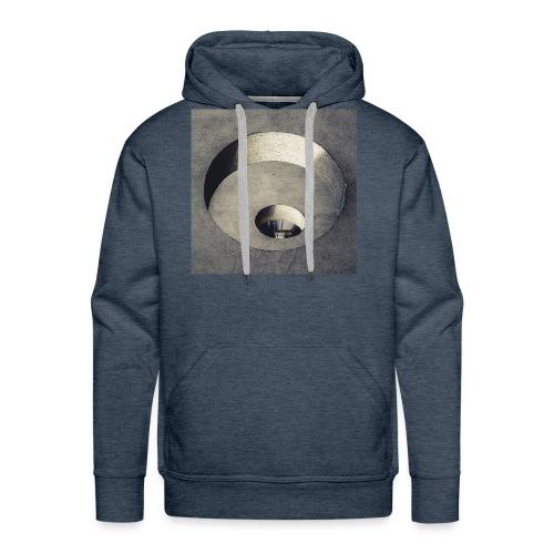 rings of holes - Felpa con cappuccio premium da uomo