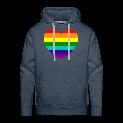 Hart in regenboog kleuren - Mannen Premium hoodie
