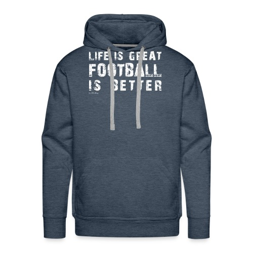 IFLMshirt_Life - Felpa con cappuccio premium da uomo