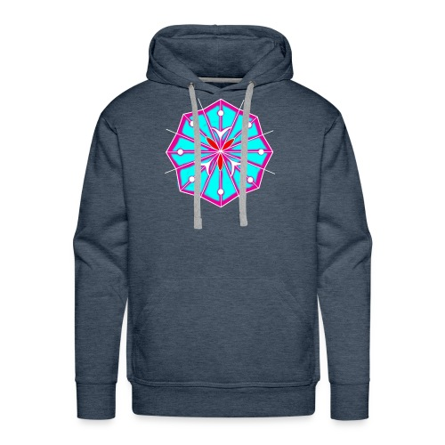 Peyote Flower - Felpa con cappuccio premium da uomo