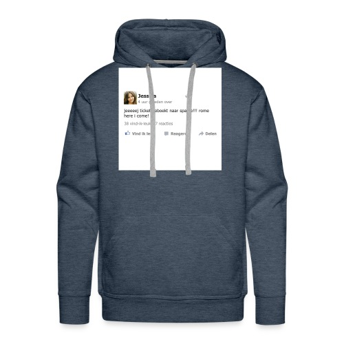 kussensloop_ticket_geboekt_naar_spanje - Mannen Premium hoodie