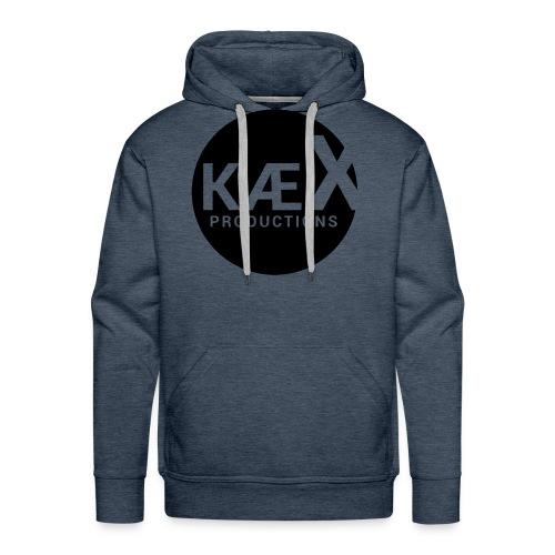 Kæx Hvit Hettegenser - Premium hettegenser for menn