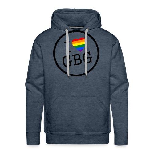 I Love Gbg - tygkasse - Premiumluvtröja herr