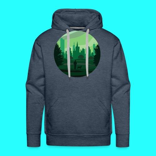 a green city - Felpa con cappuccio premium da uomo