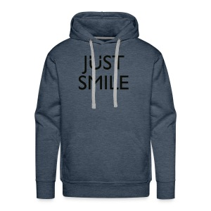 JustSmile Smile - Mannen Premium hoodie