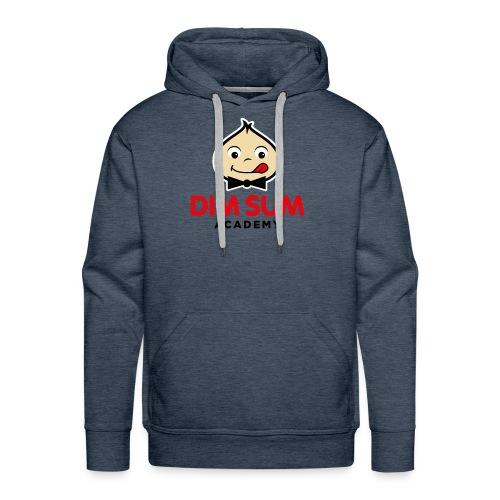 Dim Sum Academy Logo noir - Sweat-shirt à capuche Premium pour hommes