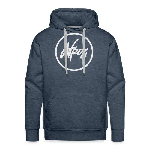 Atrox Logo White Transparent - Men's Premium Hoodie