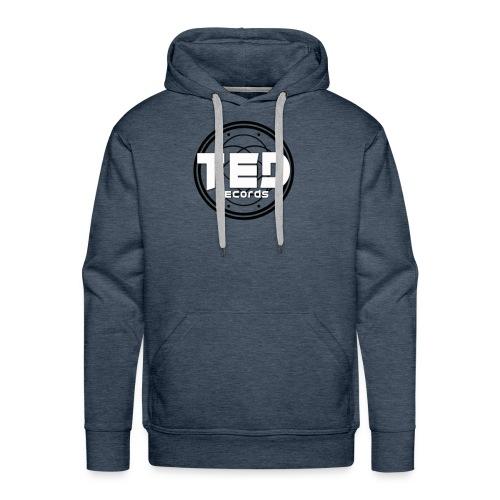 LOGO TED RECORDS BLACK & WHITE - Sweat-shirt à capuche Premium pour hommes