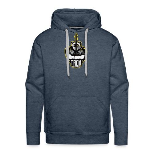 Tron-Gaming-Logo-Gelb-Transparent - Männer Premium Hoodie