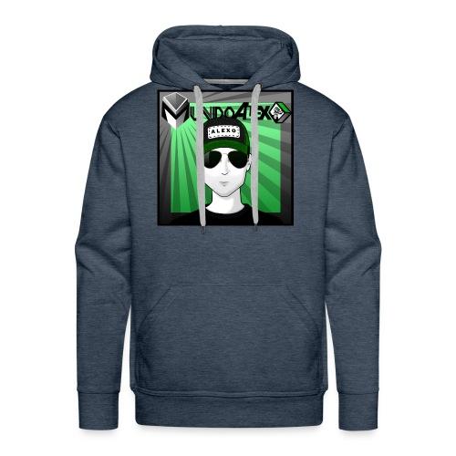 Logo clásico mundoalexo - Sudadera con capucha premium para hombre