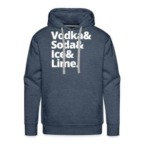 vodka soda ice lime - Mannen Premium hoodie