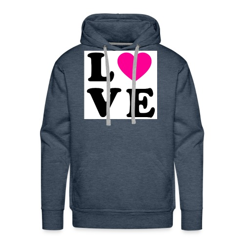 Love t-shirt - Sweat-shirt à capuche Premium pour hommes