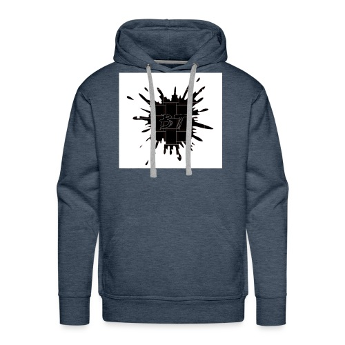 Blacktuber Splash Logo - Mannen Premium hoodie