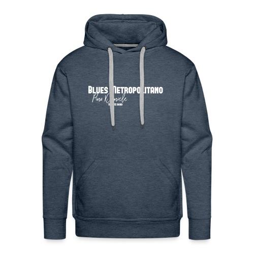 BM logo bianco - Felpa con cappuccio premium da uomo