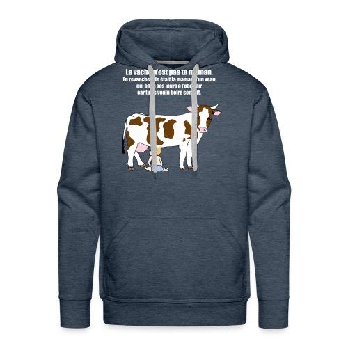 Vache à lait - Sweat-shirt à capuche Premium pour hommes