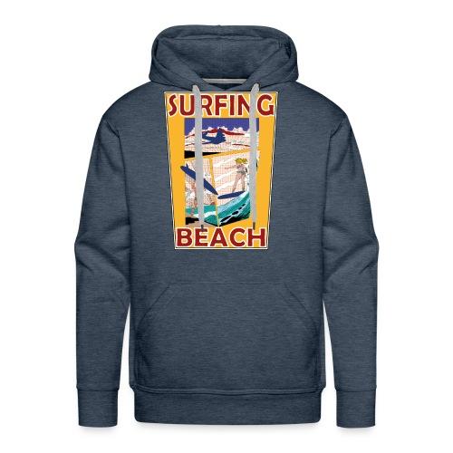 Surfing beach comic Urlaub t-shirt - Männer Premium Hoodie