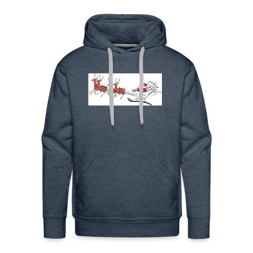 pictures-of-santa-and-reindeer-UDuZhz-clipart - Men's Premium Hoodie