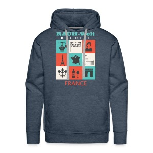 Rauh Welt France color - Sweat-shirt à capuche Premium pour hommes