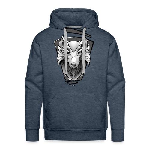Wolf Tattoo Design - Männer Premium Hoodie